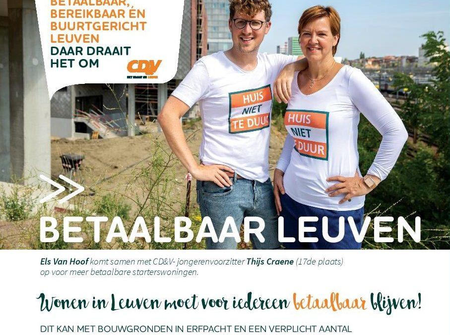 Een Betaalbaar Leuven: daar draait het om!
