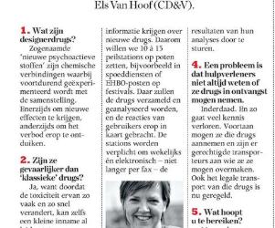 Wetsvoorstel ter bescherming tegen designer drugs