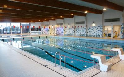 Werken aan zwembad Kessel-lo