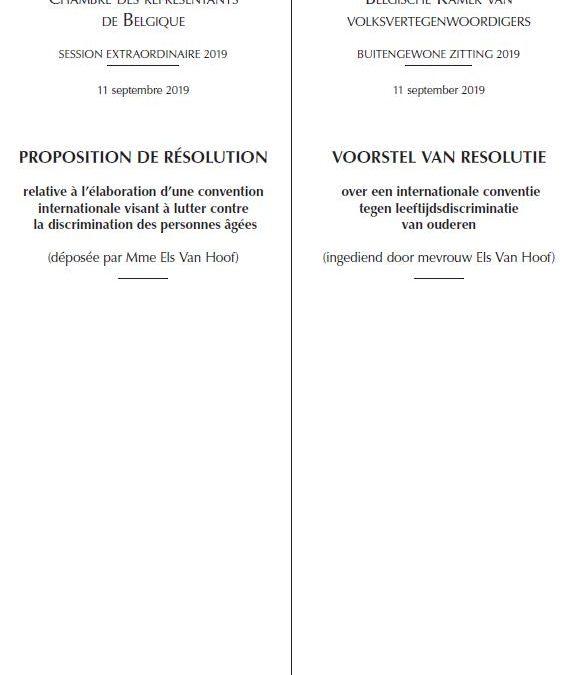 resolutie tegen leeftijdsdiscriminatie van ouderen goedgekeurd