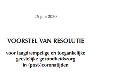 Resolutie geestelijke gezondheidszorg goedgekeurd!